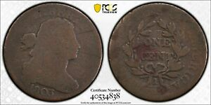 1803-Drapped-Bust-Cent-Small-Date-Large-Fraction-PCGS-Genuine-AG-Detail-R-4-5