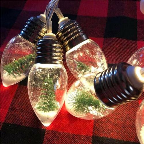 Bullseye Playground Christmas Tree Snow String Lights Christmas Orments Lamps
