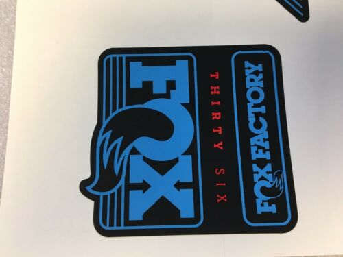 Red Left /& Right Decals Set 36mm Stickers FOX Factory Series Fork 36 Blue