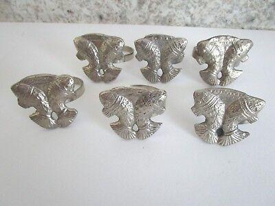 Golden Rabbit Old Bay brand Seasoning Napkin Ring Set of 4 Seafood