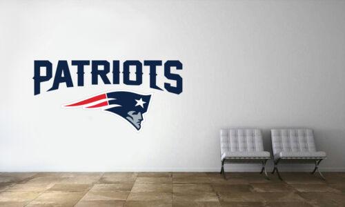 New England Patriots Logo Wall Decal NFL Football Decor Sport Mural Vinyl Sticke