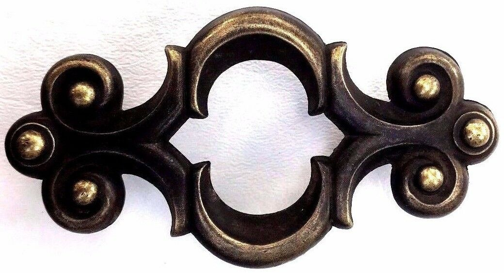 Brass French Provincial MCM Drawer Pull 3 3/4