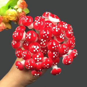 30X Mini Resin Mushroom Fairy Garden Toadstool Ornament Potted plants decor ^F