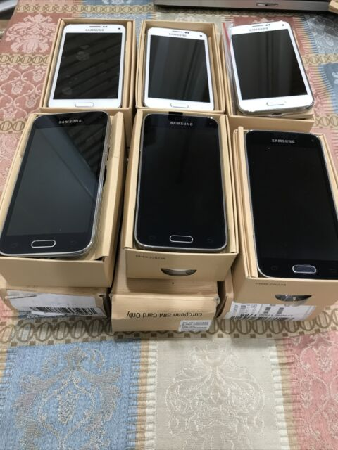 Bulk Lot 6 - NEW Samsung Galaxy S5 mini SM-G800F- 16GB White (GSM GLOBAL Unlock)