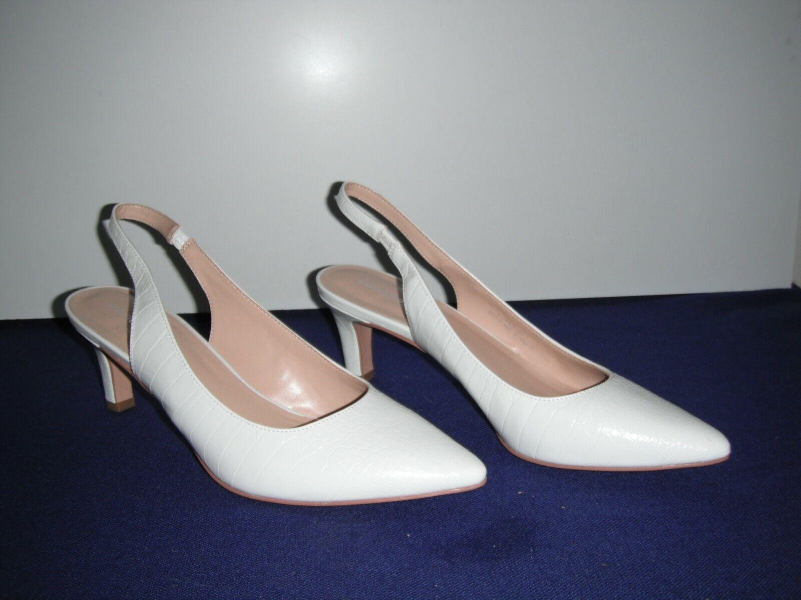 Beautiful Bridal Shoes White Heels Size 41 NEW