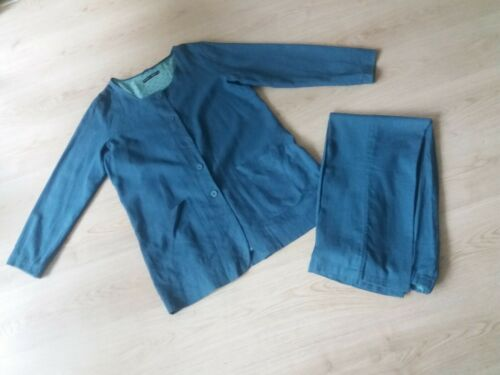 GUDRUN SJODEN lined jacket and pants trousers size