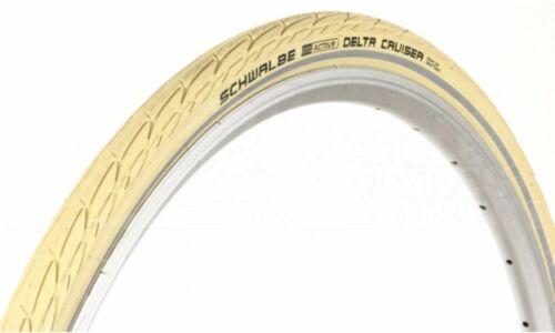 """40-635 Schwalbe Delta Cruiser Tyre CREAM 28x 1 1//2/"""" town bike RETRO DUTCH BIKE"""