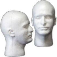 Mn-409 2 Pcs Male Styrofoam Foam Mannequin Head