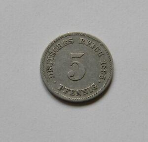 Imperio: 5 Peniques 1895E, J. 12 , Muy Bonito, Raro, I
