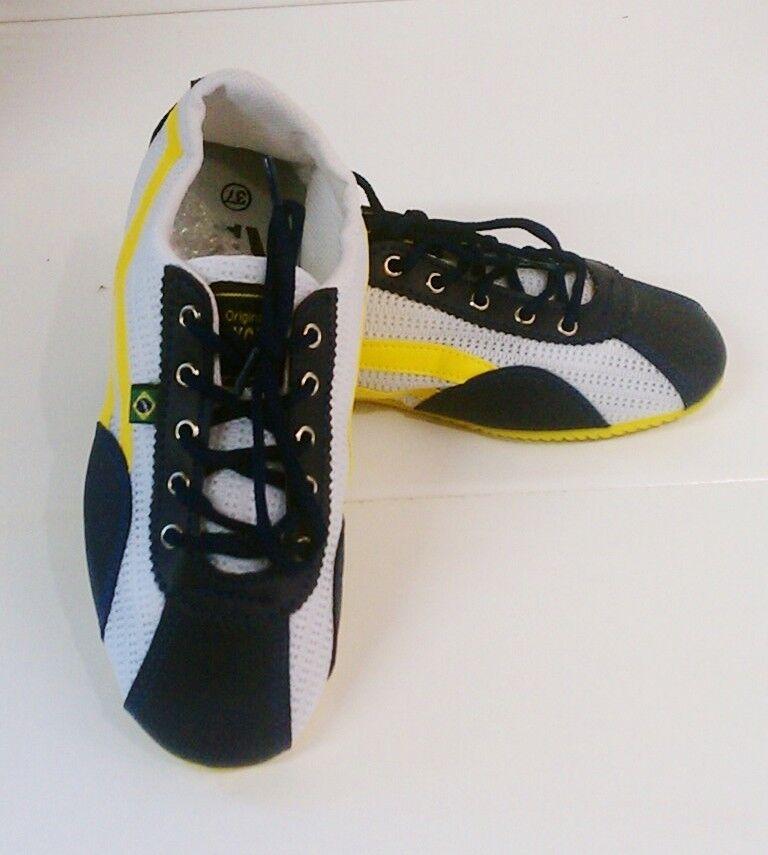 Taygra Brasil Azul Amarillo y blancooo Entallado Zapatillas Flexible & Claro
