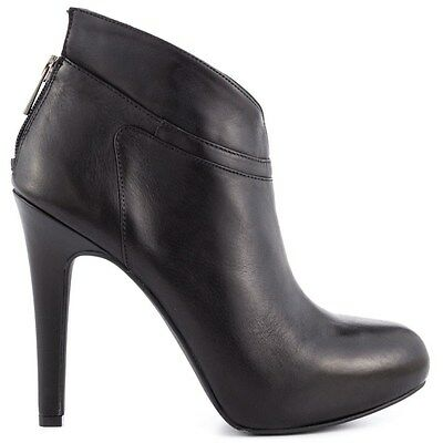 Jessica Simpson Aggie Black Leather Booties Boots 6, 9.5 NIB