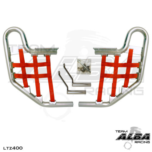LTZ 400 KFX 400 DVX 400   Nerf Bars  Alba Racing  Silver bar Red nets  206 T1 SR