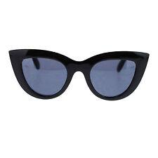 Women's Vintage Thick Frame Cateye Sunglasses Chic Designer Black