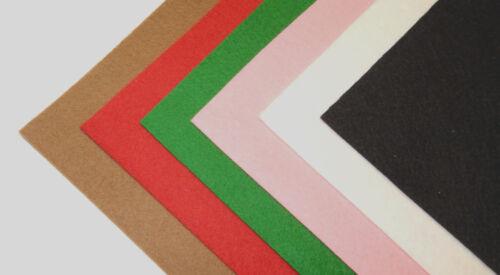 KS Wollfilz KREATIV 100/% Wolle 6 Farben 20x25 cm basteln nähen Bastelfilz