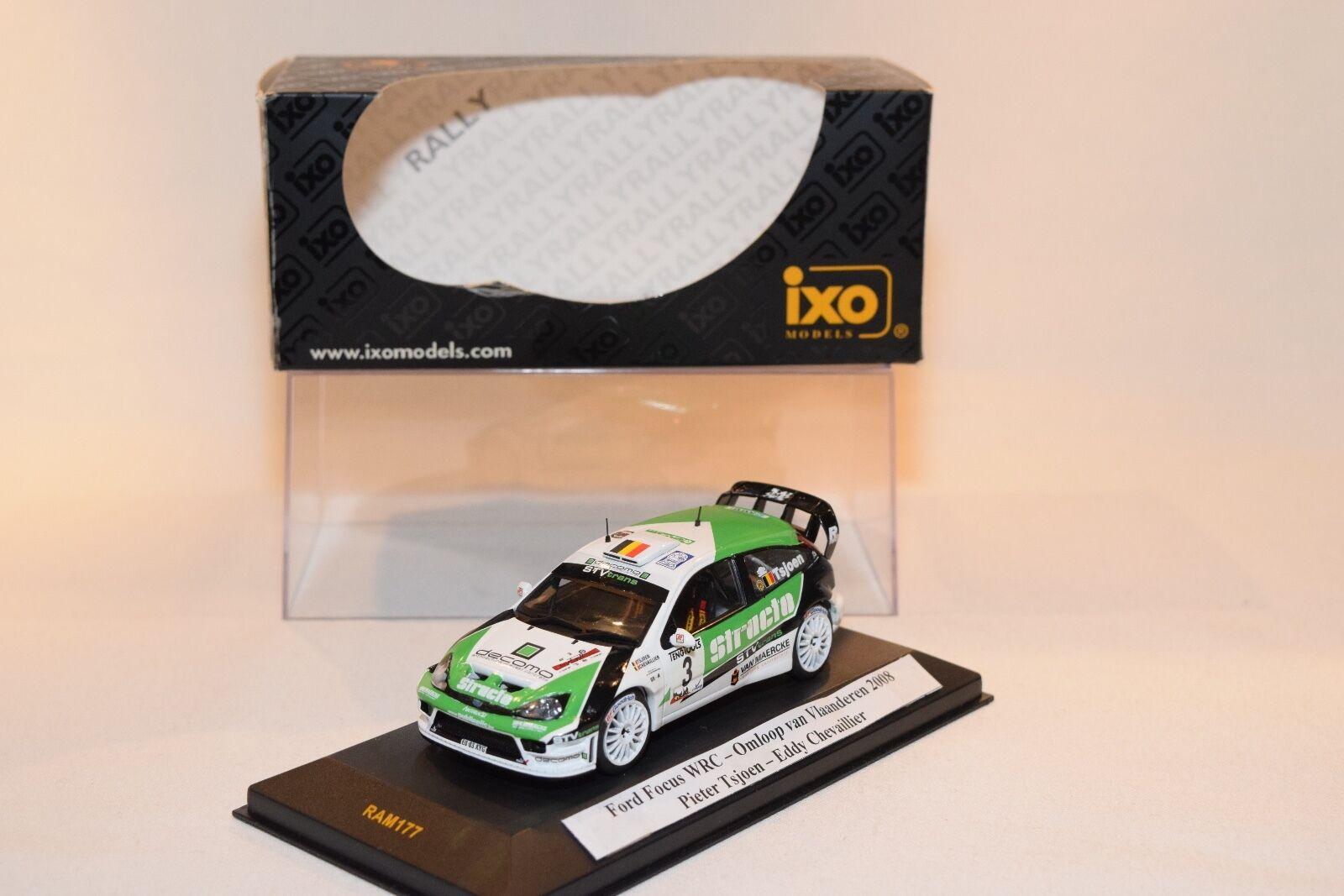 IXO IXO IXO FORD FOCUS WRC OMLOOP VAN VLAANDEREN 2008 TSJOEN CHEVAILLIER MIB UMBAU 707976