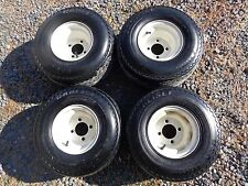 Set Of 4 18x8.50-8 Golf Cart Wheels & Tires, Fits E-Z-GO, Yamaha, Club Car USED