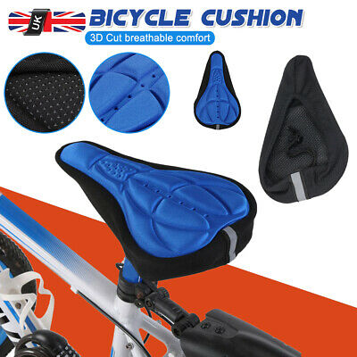 Silicone 3D Bike Saddle Seat Cover Pad Padded Bicycle Soft Cushion Comfort