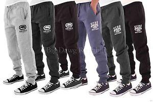Ecko-Men-039-s-Designer-Jog-Pants-Hip-Hop-Fleece-Jogging-Bottoms-Is-Time-Money