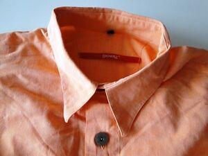 Das Bild wird geladen Signum-Herren-Hemd-Kurzarm-Orange-Strukturiert- Baumwolle-Gr- 7eabde0631