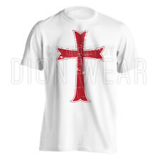 Crusader Knights Templar Distressed Christian Cross Jesus Christ T-shirt S-3XL