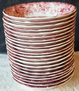 22-Vintage-Johnson-Brothers-034-Mill-Stream-034-Pink-Fruit-Berry-Bowl-Bowls-5-25-Inch