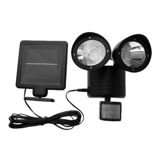 Solar Power Dual Security Detector Spot Light Motion Sensor Outdoor Floodlight