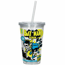 Funko DC Comics Batman And Robin 16 oz. Acrylic Travel Cup NEW Mug Container