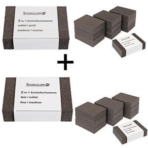 18x-Schleifschwamm-Grob-Mittel-Fein-Schleifblock-Schleifklotz-Schleifmittel