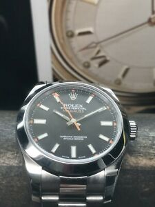 Rolex-Oyster-Perpetual-Milgauss-116400-Black-Dial-40mm-Oyster-Bracelet-Complete