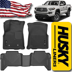 Details About Husky Liners 2016 2017 Toyota Tacoma Double Crew Cab X Act Contour Floor Mats
