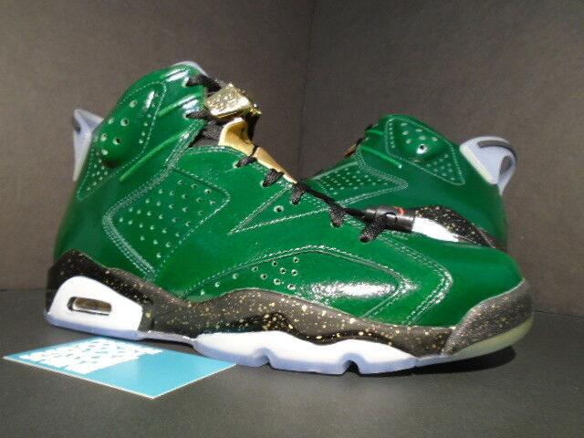 Nike Air Jordan VI 6 Retro CHAMPAGNE CHAMPIONSHIP PACK PINE GREEN GOLD BLACK 8 New shoes for men and women, limited time discount