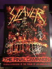 Slayer Los Angeles Tour Signed Poster Limited Rare Final Show SOLD OUT!