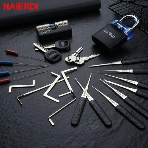 Forzar cerraduras herramientas de mano suministros juego de púas de candado