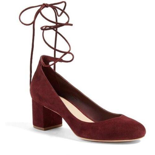compensés en Chaussures Randall daim et daim Loeffler à bordeaux en bordeaux talons bf6gyY7