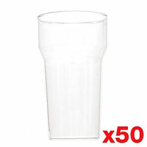 10-Ounce-1-2-Pint-Plastic-Reusable-Glasses-Cups-CE-Marked-Tumbler-x-50
