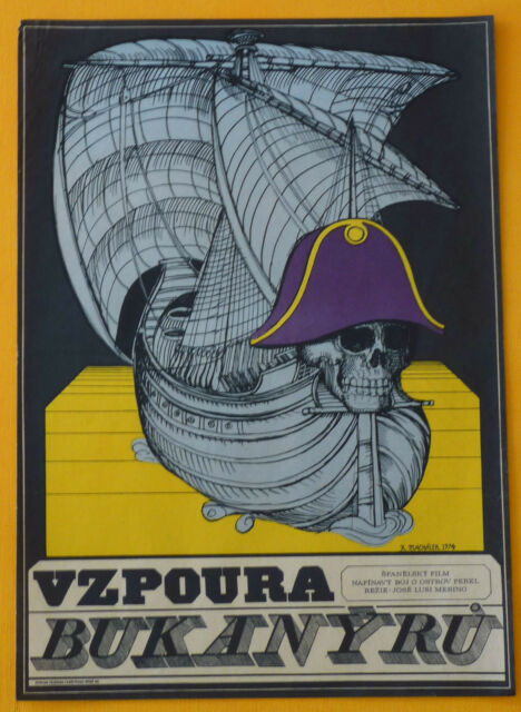 PIRATES OF BLOOD ISLAND Amazing Rare Original Czech Poster NATALIE WOOD