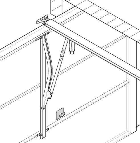 Hörmann Kurventorarm KTAF 1 für nicht ausschwingende Fremdfabrikate Kipptore