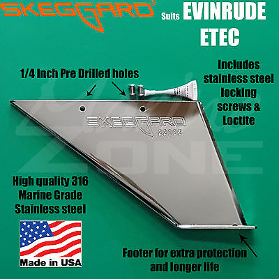 JOHNSON//EVINRUDE 150-175-185-200-225HP Skeg Guard Skeg Protector
