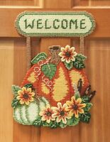 Mary Maxim Harvest Welcome Plastic Canvas Kit on sale