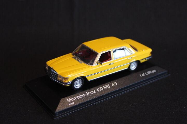 Minichamps Mercedes -Benz 450 SEL 6.9 1974 1 43 gul (JS)