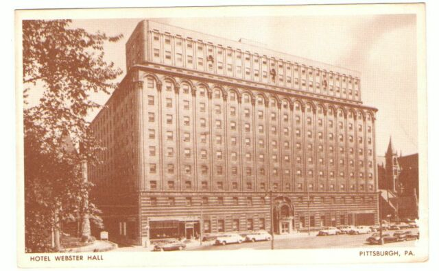 Unused Postcard Advertising Hotel Webster Hall Pittsburgh Pennsylvania PA