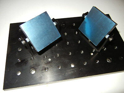 """Laser Optics, Laser Show Bounce Mirror 2"""" X 2"""" W/ First Surface Mirror Lot of 3"""