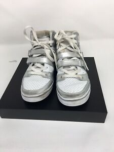 Vlado-Knight-Size-8-White-Silver-Sneakers