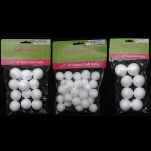 Image Is Loading 50 Foam Polystyrene Art Craft Styro White Balls