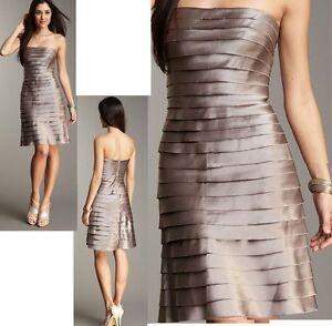 8d6a04b1b4  328 BCBG MAXAZRIA Gravel Laser Cut Tiered Strapless Cocktail Dress ...