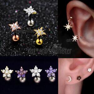 Gem-Diamonds-Ring-Bar-Ear-Climber-Cartilage-Helix-Tragus-Piercing-Stud-Earrings