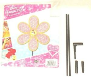 "Princess Belle Disney Windmill Garden Decor Durable Plastic Wire 9.5/"" X 24/"" NIP"