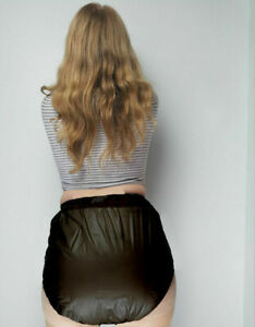 BLACK-PVC-Plastic-Pants-Adult-DIAPER-NAPPY-Incontinence