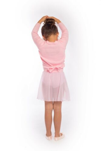 LILAC PINK WHITE Roch Valley Ballet Wrap Cardigan 1,2,3,4,5,6,7,8,9,10 years