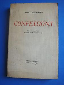 SAINT-AUGUSTIN-CONFESSIONS-PIERRE-HORAY-L-DE-MONDADON-1950-EDITIONS-DE-FLORE